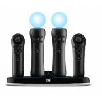 CTA Quadruple Port Charging Station for PlayStation Move Controllers/ Pow