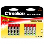 Camelion Plus Alkaline AAA (LR03), 8 (4+4) value pack