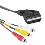 Hama 43179 Scart/3RCA in/out 3m